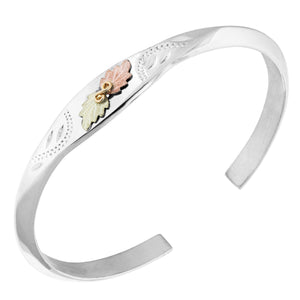 Sterling Bangle Bracelet - Black Hills Gold