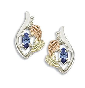 Sterling Silver Tanzanite Earrings - Black Hills Gold - Fortune And Glory - Made in USA Gifts