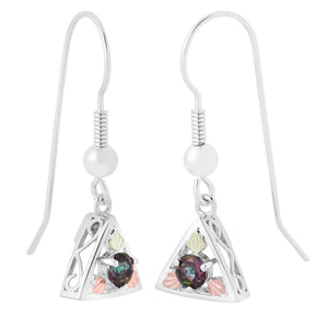 Mystic Fire Sterling & Black Hills Gold Earrings - Jewelry