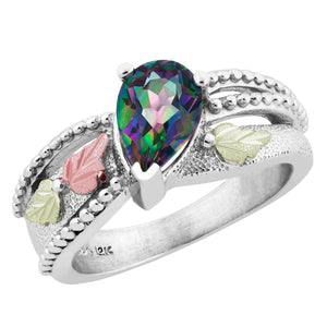 Sterling on Black Hills Gold Mystic Fire Topaz Ring - Jewelry
