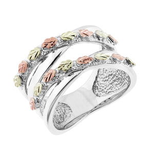 Many Leaves on Sterling Ring - Black Hills Gold - Jewelry