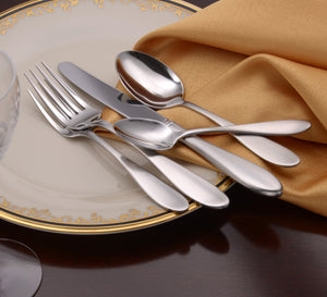 Mallory Complete Flatware Set - Fortune And Glory - Made in USA Gifts
