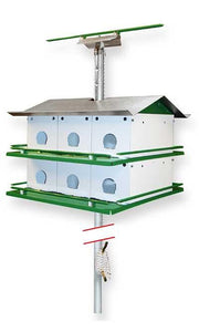 Purple Martin Birdhouse Safety System with Pole, 12 Room - Fortune And Glory - Made in USA Gifts