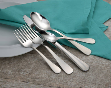 Satin Annapolis Complete Flatware Set - Fortune And Glory - Made in USA Gifts