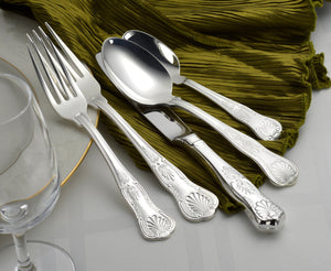 Silver Sheffield Complete Flatware Set - Fortune And Glory - Made in USA Gifts