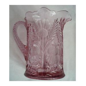 Inverted Thistle Glass Pitcher - 4 Color Options - Rose - Baby Gifts