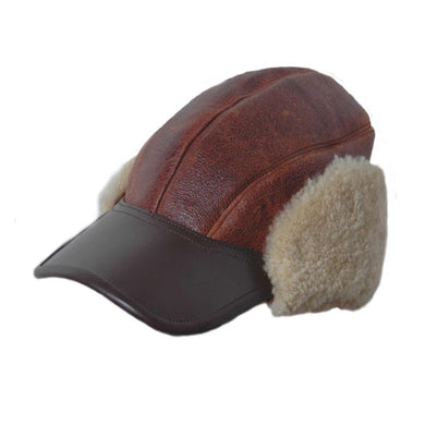 B-2 Shearling Gunners Cap - Fortune And Glory - Made in USA Gifts