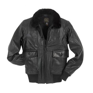 Black Leather G-1 Military Spec Jacket