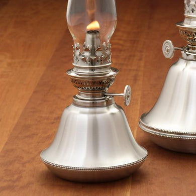 Bristol Pewter Oil Lamp
