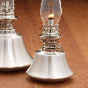 Cabin Pewter Oil Lamp - Indoor Decor