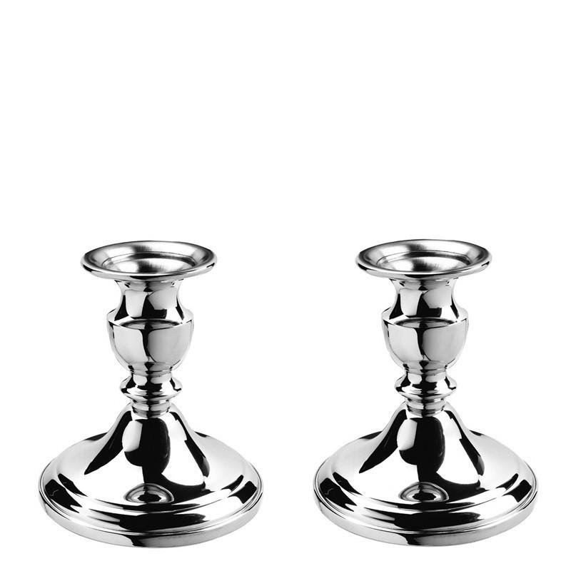 "Colonial Candlesticks - 4 ¼"" Pair in Pewter"