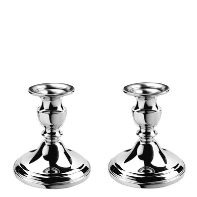 "Colonial Candlesticks - 4 ¼"" Pair in Pewter - Fortune And Glory - Made in USA Gifts"