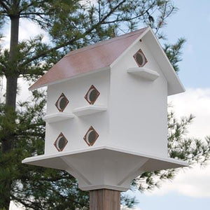 Purple Martin Mansion Copper Roof - Birdhouses