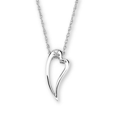 Sterling Silver Black Hills Gold Large Heart Pendant - Jewelry