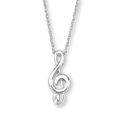 Sterling Silver Black Hills Gold Musical Note Pendant - Jewelry