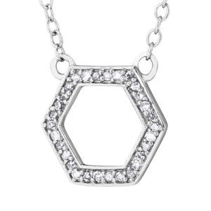 Sterling Silver Black Hills Gold Hexagon Pendant - Jewelry