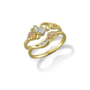 Black Hills Gold 14K Wedding Diamond Ring III - Jewelry