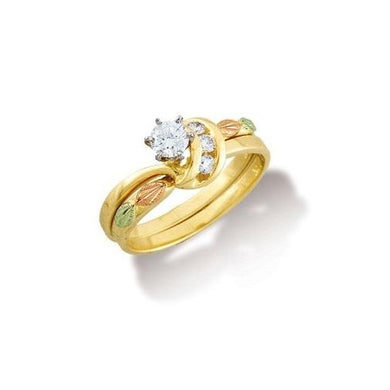 Black Hills Gold 14K Wedding Diamond Ring II - Jewelry