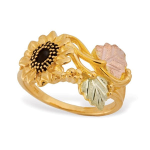 Black Hills Gold Sunflower Ring - Jewelry