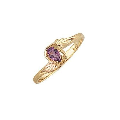 Black Hills Gold Pear Cut Amethyst Ring II - Jewelry