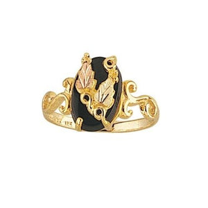 Black Hills Gold Fancy Onyx Ring - Jewelry