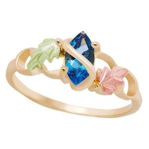 Black Hills Gold Blue Topaz Ring II - Jewelry