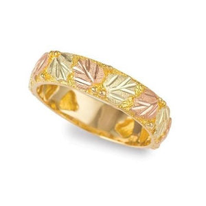 Black Hills Gold Paired Leaves Ring - Jewelry