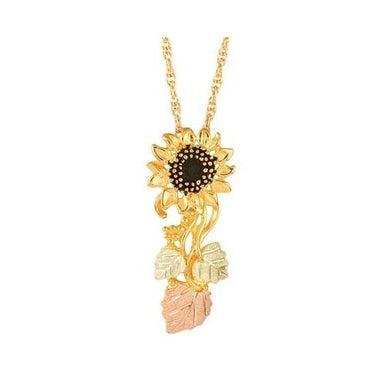 Black Hills Gold Sunflower Pendant & Necklace II - Jewelry