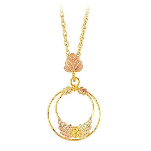 Black Hills Gold Loop Pendant & Necklace - Jewelry