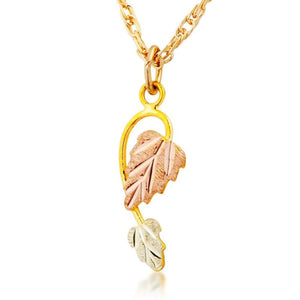Black Hills Gold Classic Foliage Pendant & Necklace IV - Jewelry