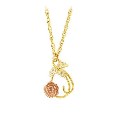 Black Hills Gold Rose and Vines & Necklace - Jewelry
