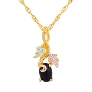 Black Hills Gold Fancy Onyx Pendant & Necklace II