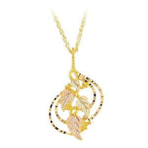 Black Hills Gold Classic Foliage Pendant & Necklace II - Jewelry