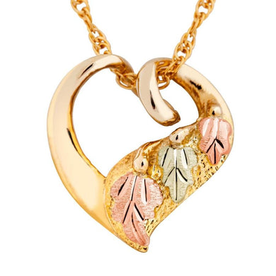 Black Hills Gold Bright Heart Pendant & Necklace - Jewelry