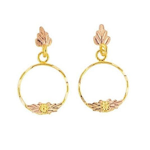 Delicate Loops Black Hills Gold Earrings II - Jewelry