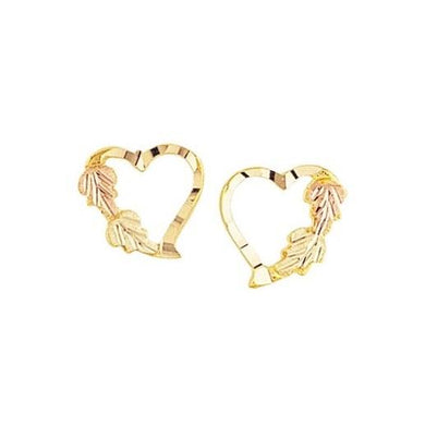 Pretty Hearts Black Hills Gold Earrings II - Jewelry