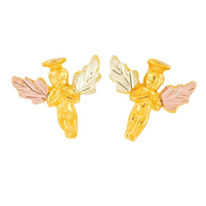 Golden Angels Black Hill Gold Earrings - Jewelry