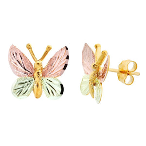Black Hills Gold Butterfly Earrings - Jewelry