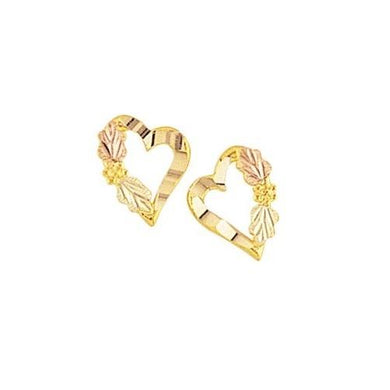Enchanted Hearts Black Hills Gold Earrings - Jewelry