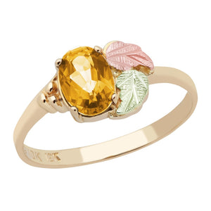 Black Hills Gold Dazzling Citrine Ring