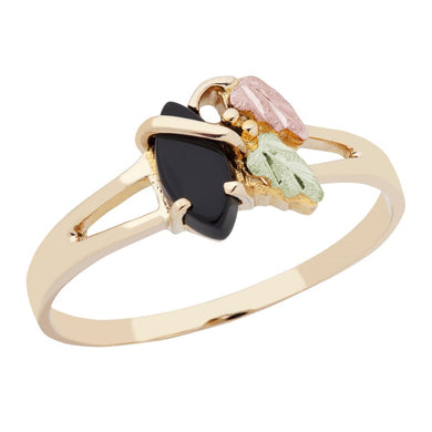 Black Hills Gold Onyx Ring III