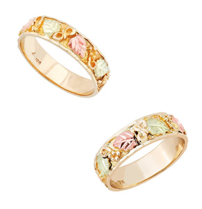 Black Hills Gold His & Hers Traditional Wedding Ring Set II