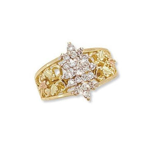 Black Hills Gold Array Of Diamonds Ring - Jewelry
