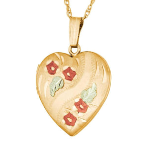Black Hills Gold Rosy Locket Pendant & Necklace - Jewelry