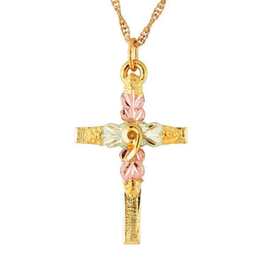 Black Hills Gold Simple Cross Pendant & Necklace IV - Jewelry