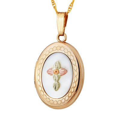 Black Hills Gold Mother of Pearl Locket