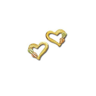 Hearts of Foliage Black Hills Gold Earrings III - Jewelry