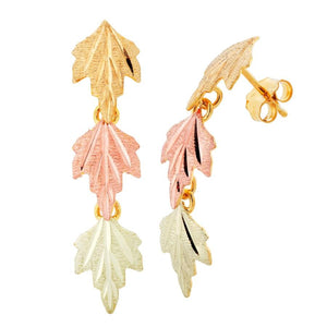 Colorful Autumn Black Hills Gold Earrings I - Jewelry