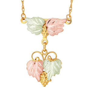 Black Hills Gold Magnificent Foliage Pendant & Necklace