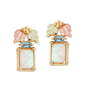 Magnificent Opal Black Hills Gold Earrings - Jewelry